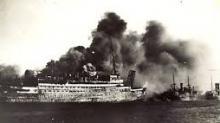 brandend schip: Statendam III
